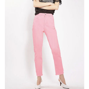 Topshop Moto Straight Hot Pink Jeans US 6